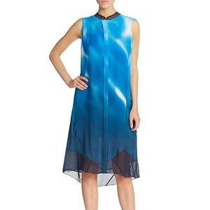 Elie Tahari Deanna Summer Silk Dress with Mesh